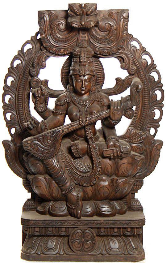 Kamalasana Saraswati Enshrining Prabhavali