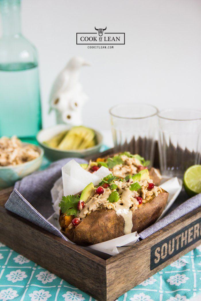 Łódeczki z batata z szarpanym kurczakiem - Cook it Lean - sprawdzone paleo przepisy