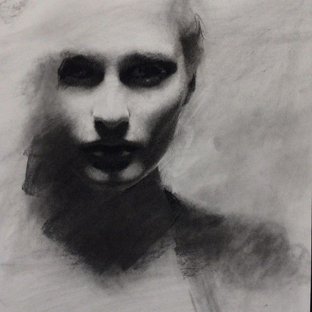 Unfinished stages. ➰ #art #charcoal #pastwork                                                                                                                                                                                 More