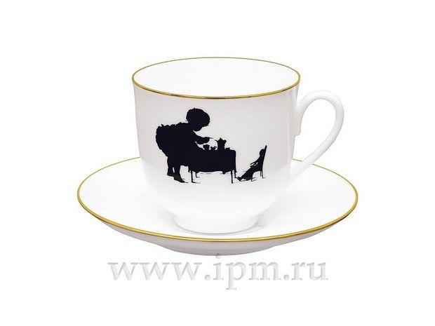 """Чашка с блюдцем кофейная Ландыш """"Чаепитие"""" 180 мл  арт. 81.15707.00.1"""