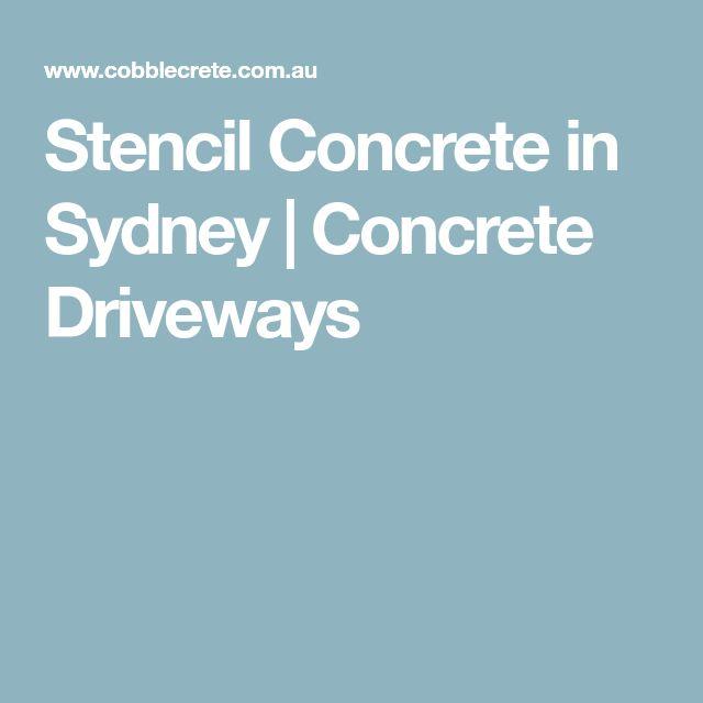Stencil Concrete in Sydney | Concrete Driveways