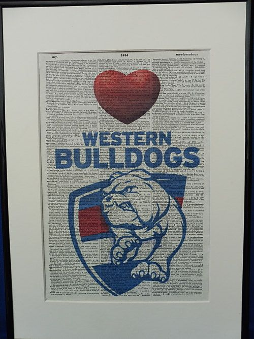 Western Bulldogs AFL Football Team Wall Art Print No.167, western bulldogs poster, afl gifts, boyfriend gift, husband gift, football poster