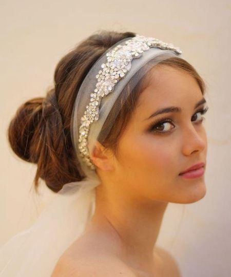 Cant decide whether to wear a wedding veil or not? How about the sparkling yet classic Nearly Veil. www.handbag.com