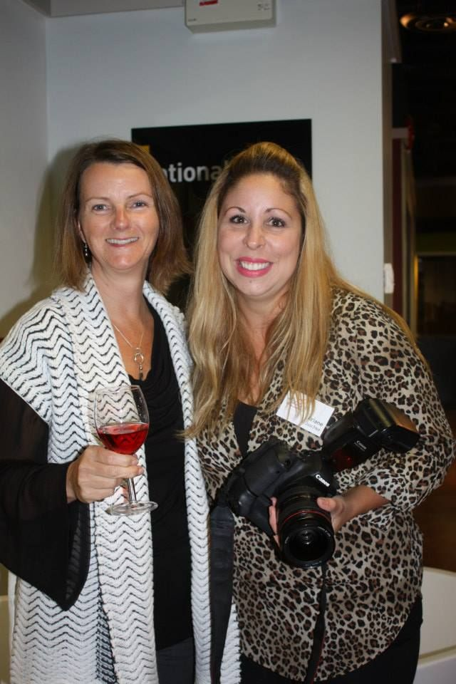 Our photographer, Ariane Jaschke (right) and Julie Isaac. Sept.30/14 Kitchen Party, #connectedwoman