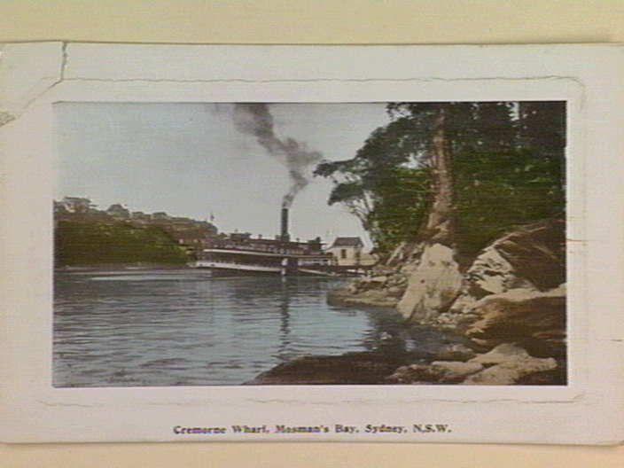 Cremorne Wharf, Mosman's Bay