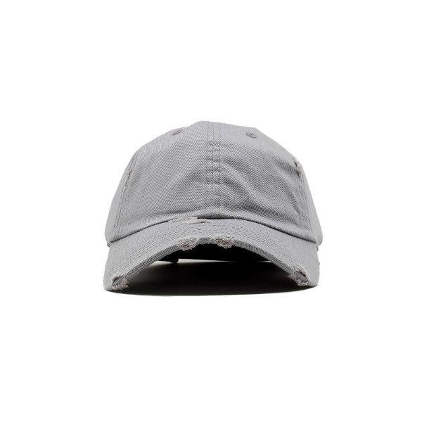 Distressed Grey Ball Cap  707b33a1b15e