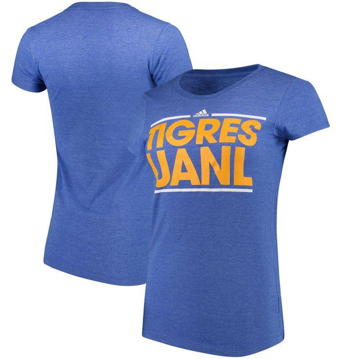 Tigres UANL adidas Women's Cap Sleeve Club Logo T-Shirt - Blue