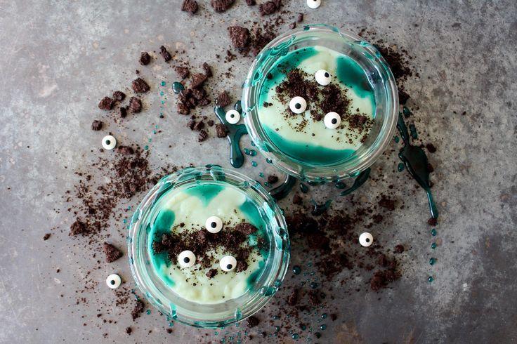Monster Slim aka Hvid Chokolade Budding – Halloween Opskrift