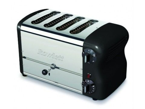 Rowlett Esprit 4 Slice Thick n Thin Toaster in Black - Toasters - Electronics