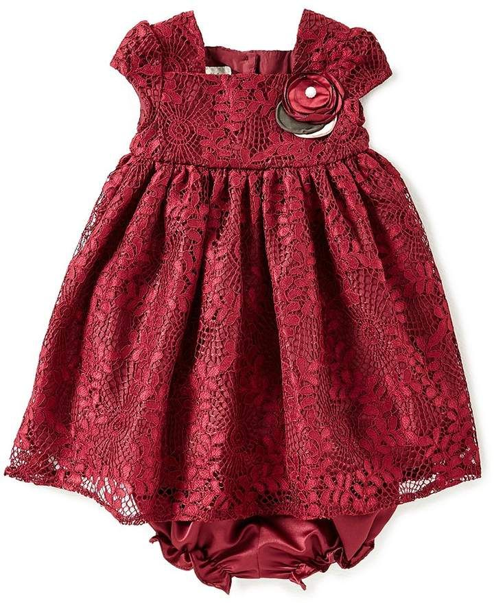 15ddbd063 Laura Ashley London Baby Girls 12-24 Months Lace-Overlay A-Line Dress  #sleeves#dimensional#neckline
