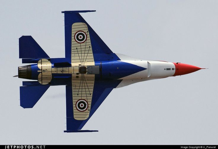 """Royal Thai Air Force General Dynamics F-16A Block 15 ADF/OCU Fighting Falcon in the """"Centennial"""" livery, commemorating 100 years of the RTAF"""