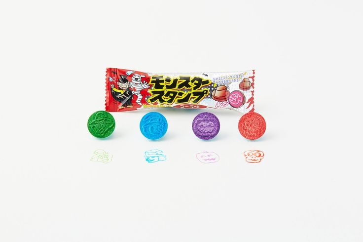 Fun 4 Kids : Monster stamp ramune.This ramune turns into a stamp!