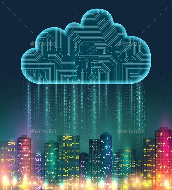 Cloud Computing Wallpaper Content Marketing In 2020 Clouds Digital Elements City Vector