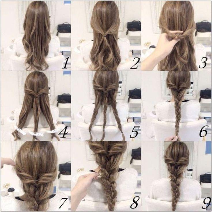 50 + Tutoriels de coiffures faciles superbes bricolage Retour à l'école étape par étape