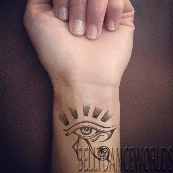 1 Pair Egyptian Eye Of Horus Eye Of Ra Temporary Tattoo Tribal Wrist Arm Sticker Egyptian Eye Tattoos Eye Of Ra Tattoo Temporary Tattoo Tribal