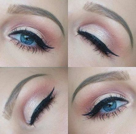 Trendy wedding makeup blue eyes brown hair pink eyeshadow Ideas