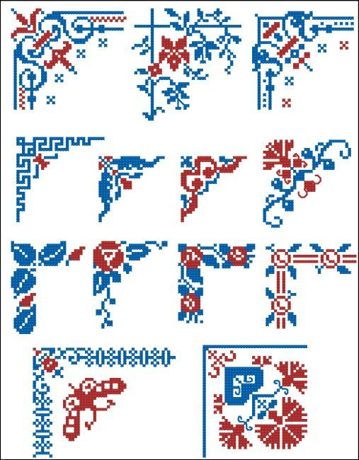Border Motifs 010 Corners (Floral) - Click Image to Close