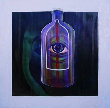 "Saatchi Art Artist Yunizar Mursyidi; Painting, ""Portable News"" #art #artists #painting #expretion #symbol #urban"