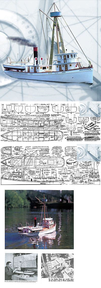 Plans 168246: Model Boat Plans Scale 35 Radio Control Bunker Boat F S Printed Plans And Notes -> BUY IT NOW ONLY: $33.98 on eBay!