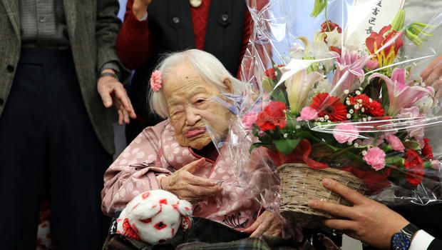 Misao Okawa, born in 1898 to a kimono maker, shared some wisdom as she prepares to celebrate her birthday: The world's oldest person says 117 years seems short. Okawa, born in Osaka on March 5, 1898, was recognized as the world's oldest person by Guinness World Records in 2013.