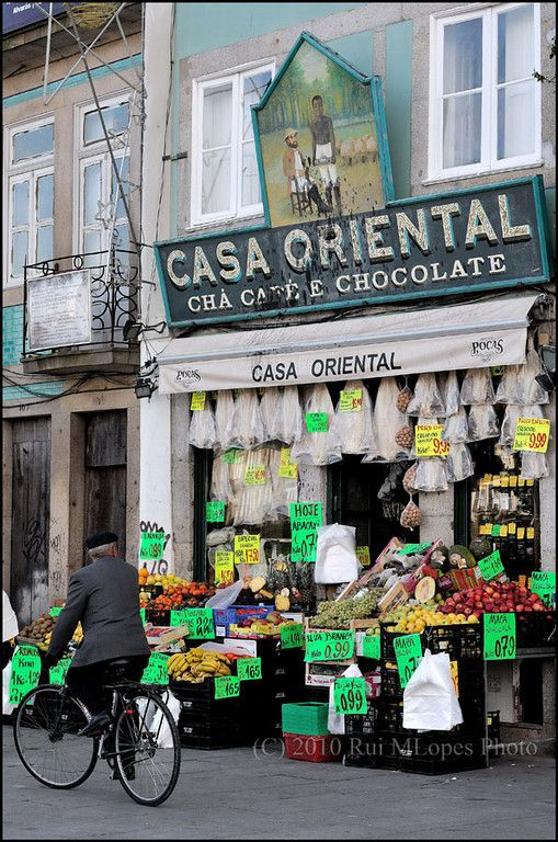 Porto Portugal, we shopped here for a picnic lunch one day. It was just around the corner from our hostel.