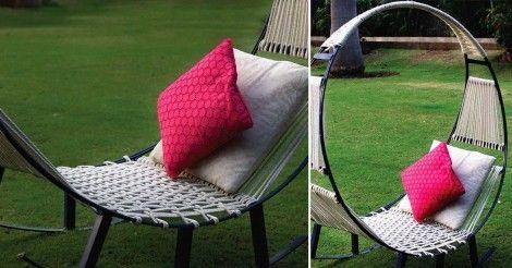 Disfruta de tu jardín haciendo esta hamaca-mecedora para descansar al aire libre.