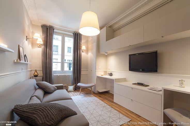 Nouvel espace salon et chambre - Paris - Canal Saint Martin - 47m2, Décoration Parisienne - Côté Maison