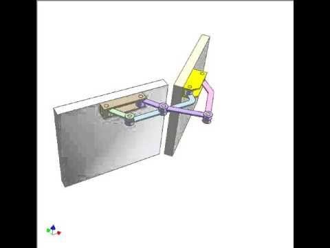 180 deg concealed hinge - YouTube