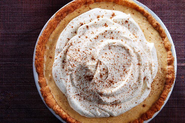 Pumpkin Icebox Pie With Snickerdoodle Crust