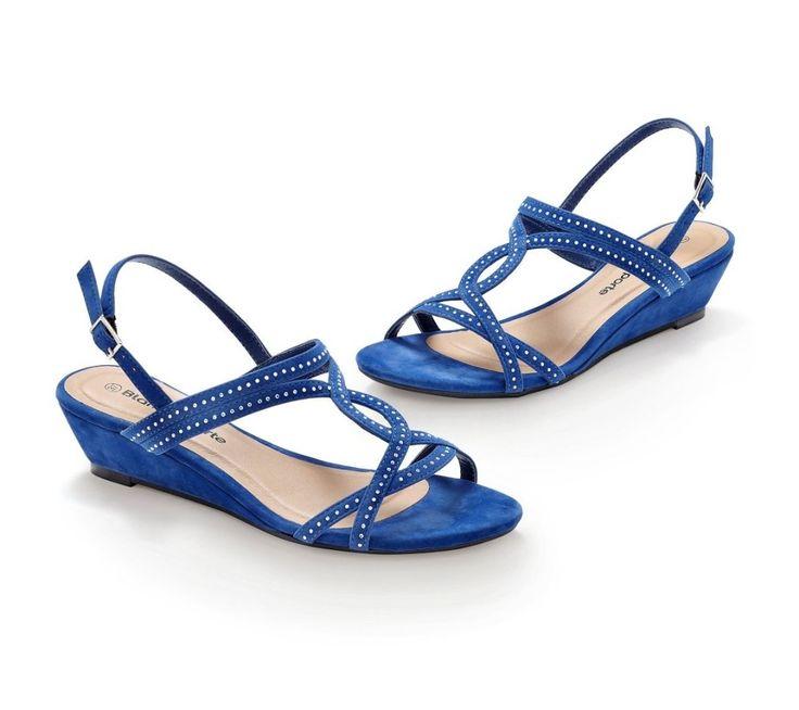 Sandále na klinovom podpätku, s flitrami | blancheporte.sk #blancheporte #blancheporteSK #blancheporte_sk #spring #summer #wear