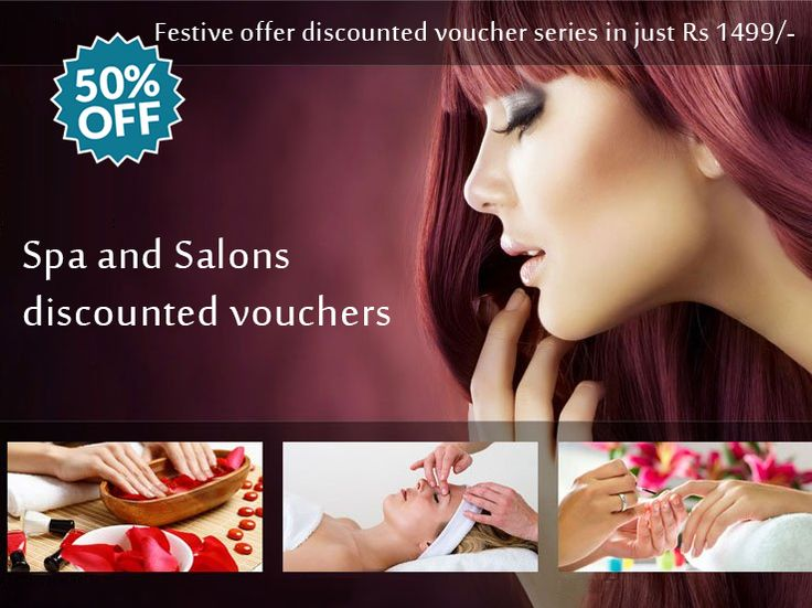 Get upto 50% discounted vouchers on #Spa and #Saloon by My Voucher World Festive #offer Get discounted voucher series in just Rs 1499/-