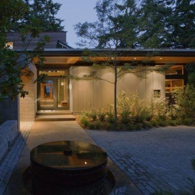 Ellis Residence (LEED Platinum certified)  B Exterior with lighting