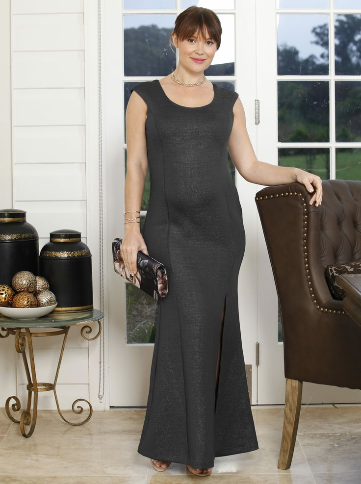 Like its name suggests, this 'Dress To Impress' Party Dress in Black, $99.95, NOW JUST $49.95,  is a guaranteed entrance-making evening dress. A must for every pregnant fashionista!