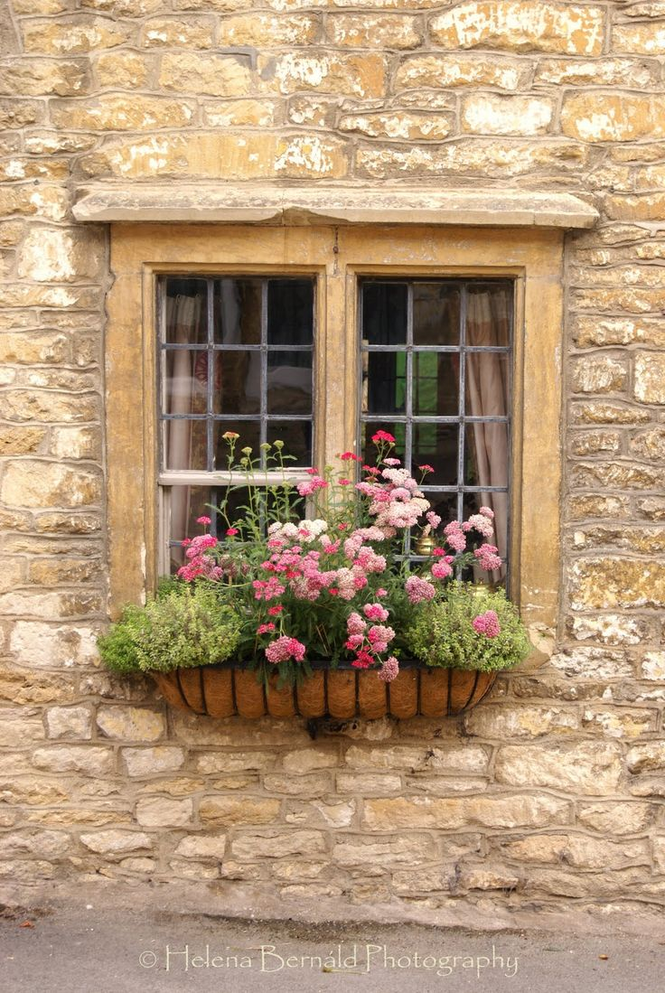 Doors, Stones Cottages, Windowboxes, Windows Boxes, French Country, Gardens, Flower Boxes, Window Boxes, Stones House