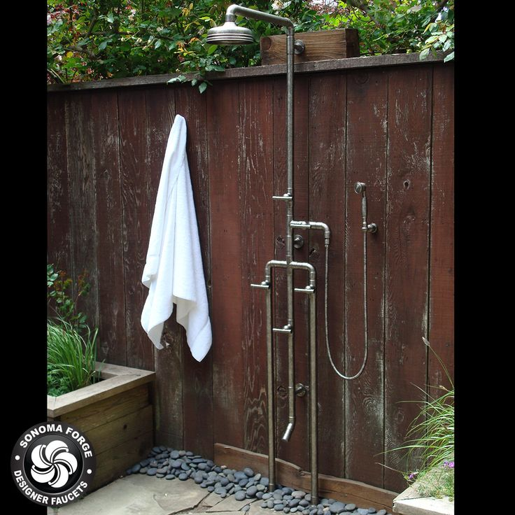 100 best waterbridge exposed shower systems images by for Outdoor shower tower