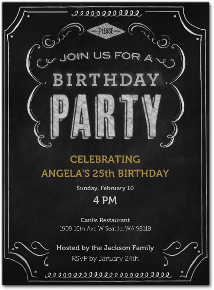 Chalk it up to another year of fun! #birthday #invitations | Card Making Ideas | Pinterest | Invitations, Birthday and Party