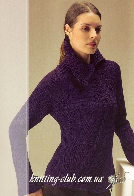 Пуловер темно-фиолетовый | Вязание от А до Я