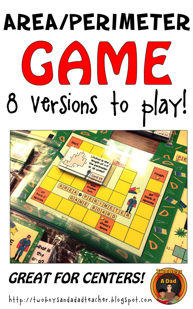 With 8 versions to play, students can have fun finding the area or perimeter with this game.  Students use grids, measured sides, and even the distributive property to apply what they've learned on how to find the area and perimeter of shapes.  Great for centers or reinforcement activities!  Check it out!