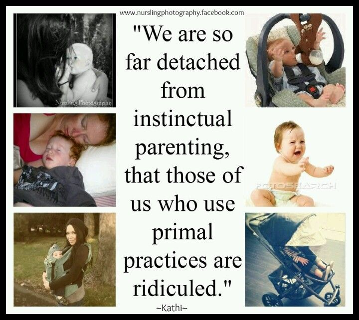 "Primal parenting / attachment parenting vs. ""Modern""parenting. The pictures on…"