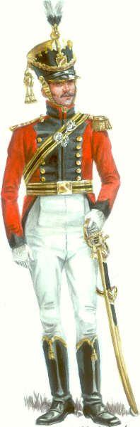 Saxony; Cheveau Legers Regiment Prinz Johann, Officer.