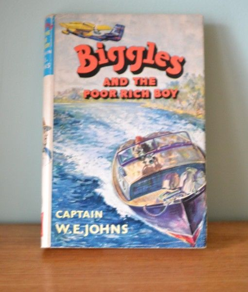 Vintage Childrens book  Biggles and the poor rich boy W.E Jonhs 1961