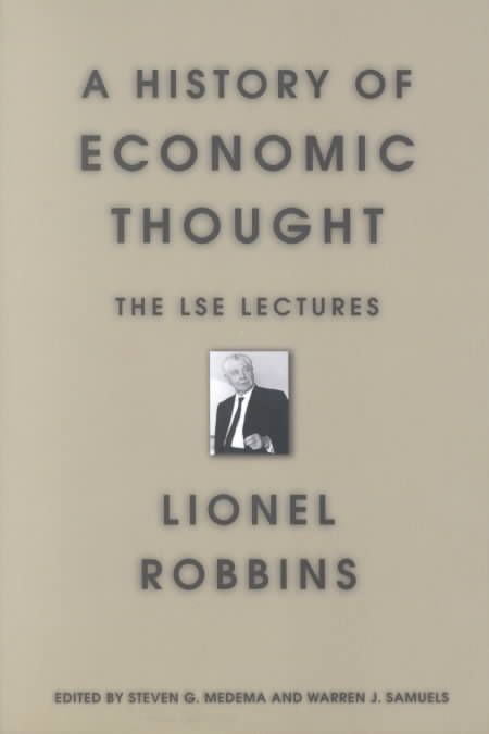 History of Economic Thought: The Lse Lectures