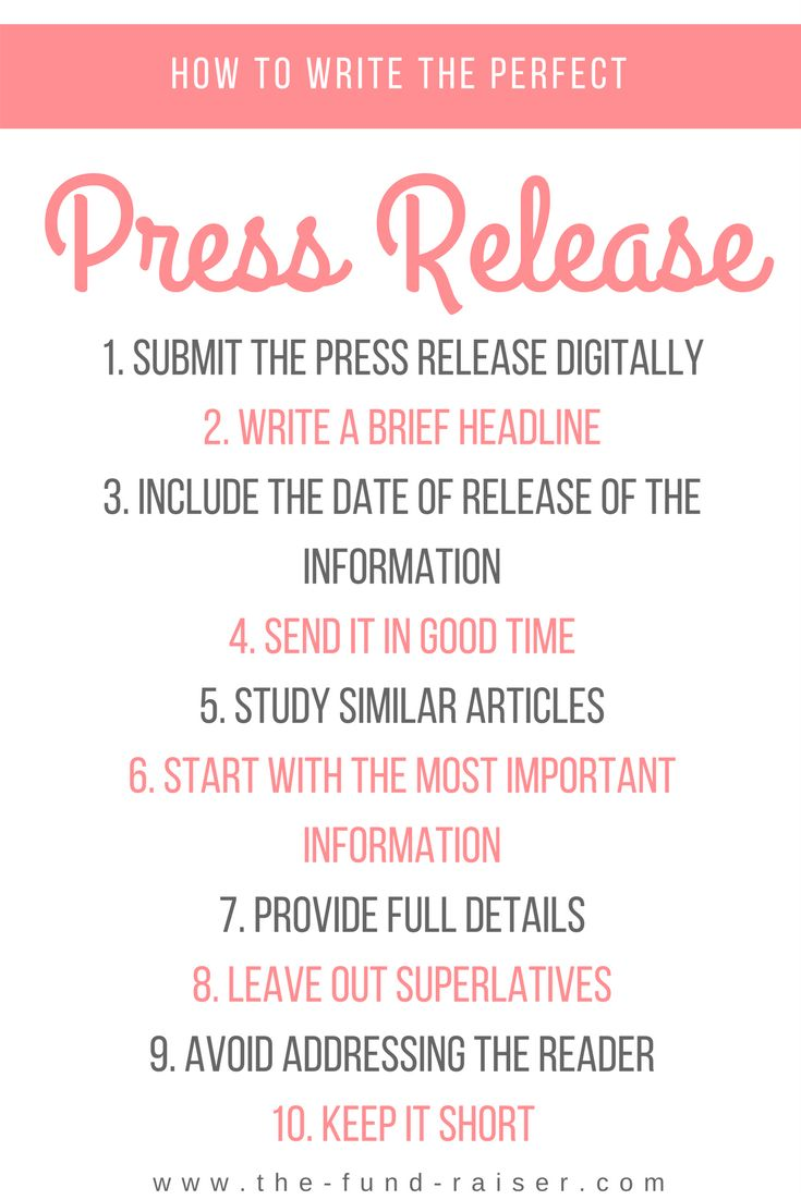 how to write a good press release A press release can help your company gain much-needed publicity here are some tips on how to prepare one.