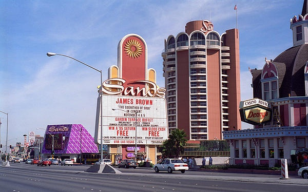 Las Vegas 1994 Street Scene Featuring The Long Gone Sands Hotel My Facebook Photography Page Http On Fb Me In1rek Pinterest