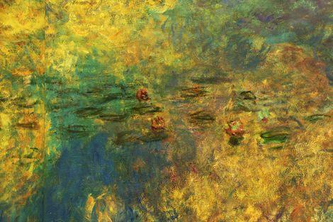 Claude Monet, Les Nymphéas ( Water Lilies - detailed view )  on ArtStack #claude-monet #art