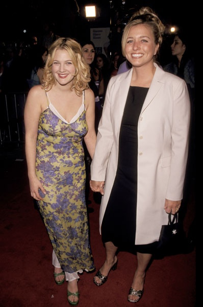 with Nancy Juvonen at the premiere of Never Been Kissed in 1999