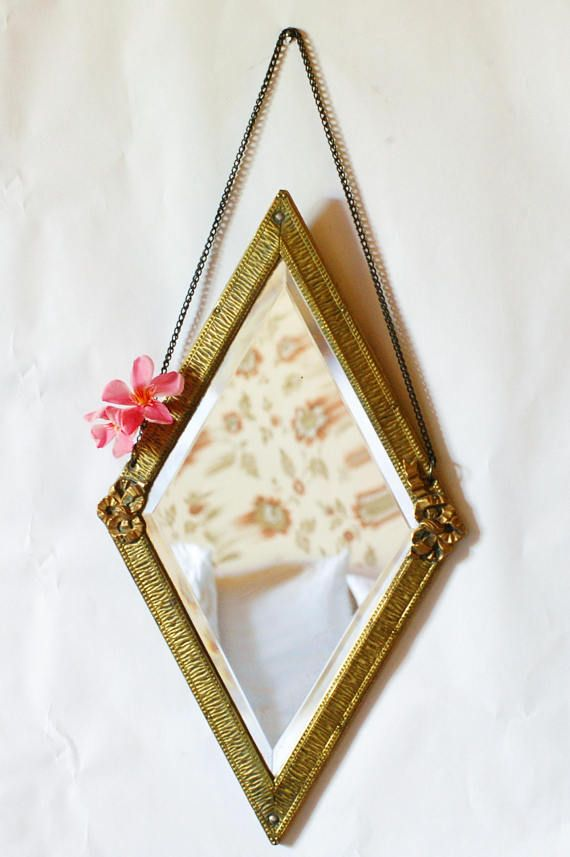 Miroir losange  miroir doré frenchvintagecharm miroir style