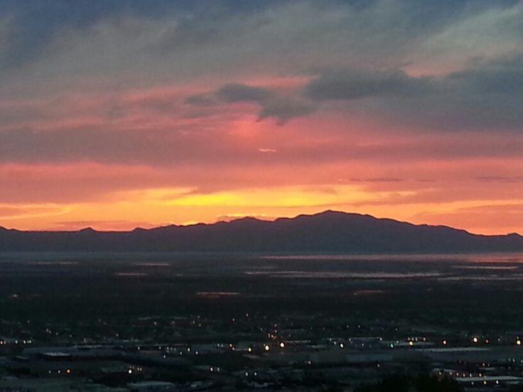 Home view of the sun setting utah like image utah sun
