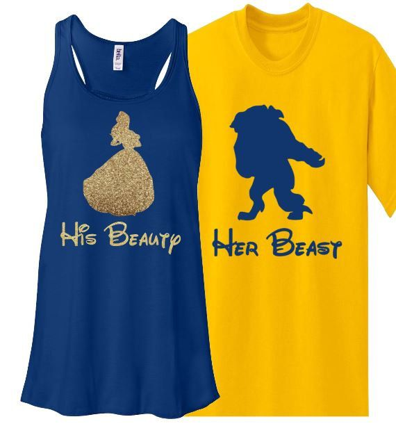 Hey, I found this really awesome Etsy listing at https://www.etsy.com/listing/229570453/glitter-couples-set-beauty-and-beast