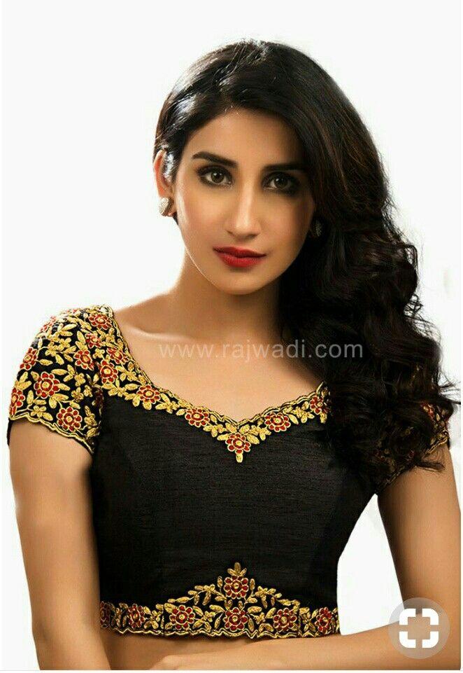 d65b0860a6be26 Saree Blouse Patterns, Sari Blouse, Black Blouse Designs, Readymade Blouses  Online, Chanya